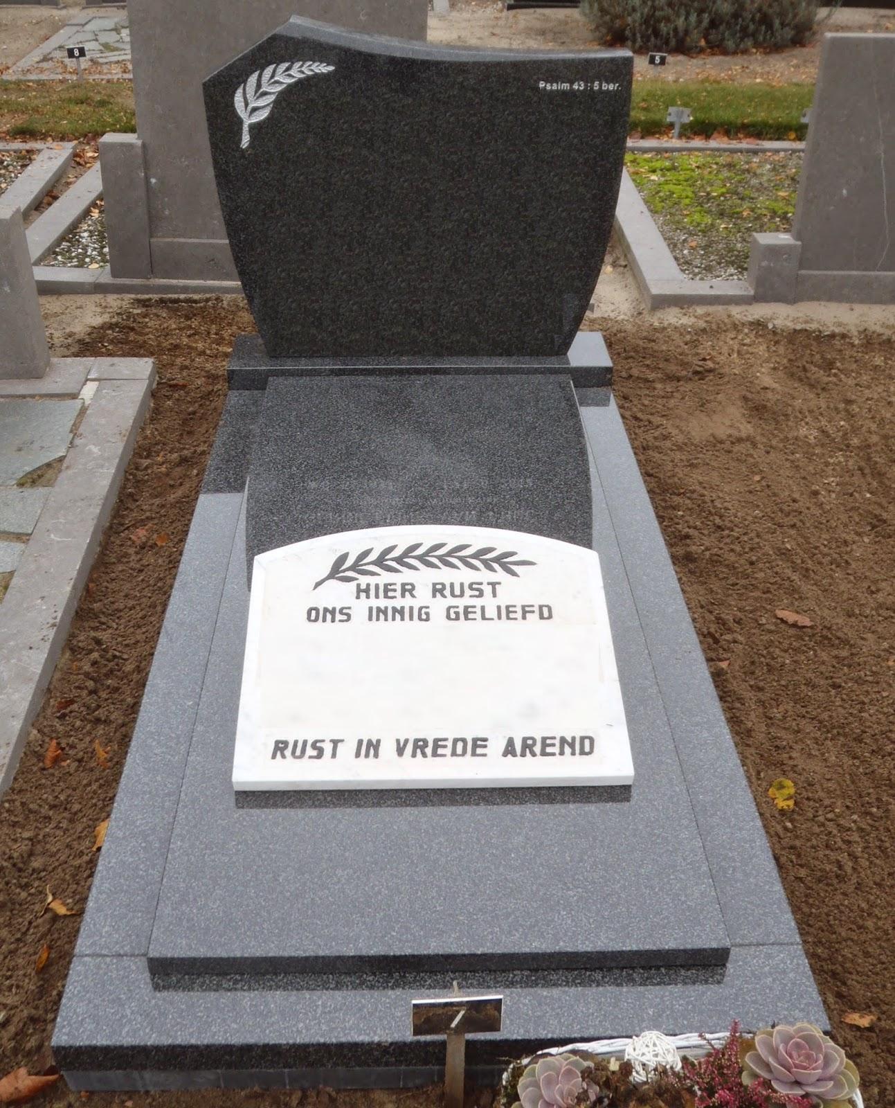 grafsteen vervangen, vernieuwen