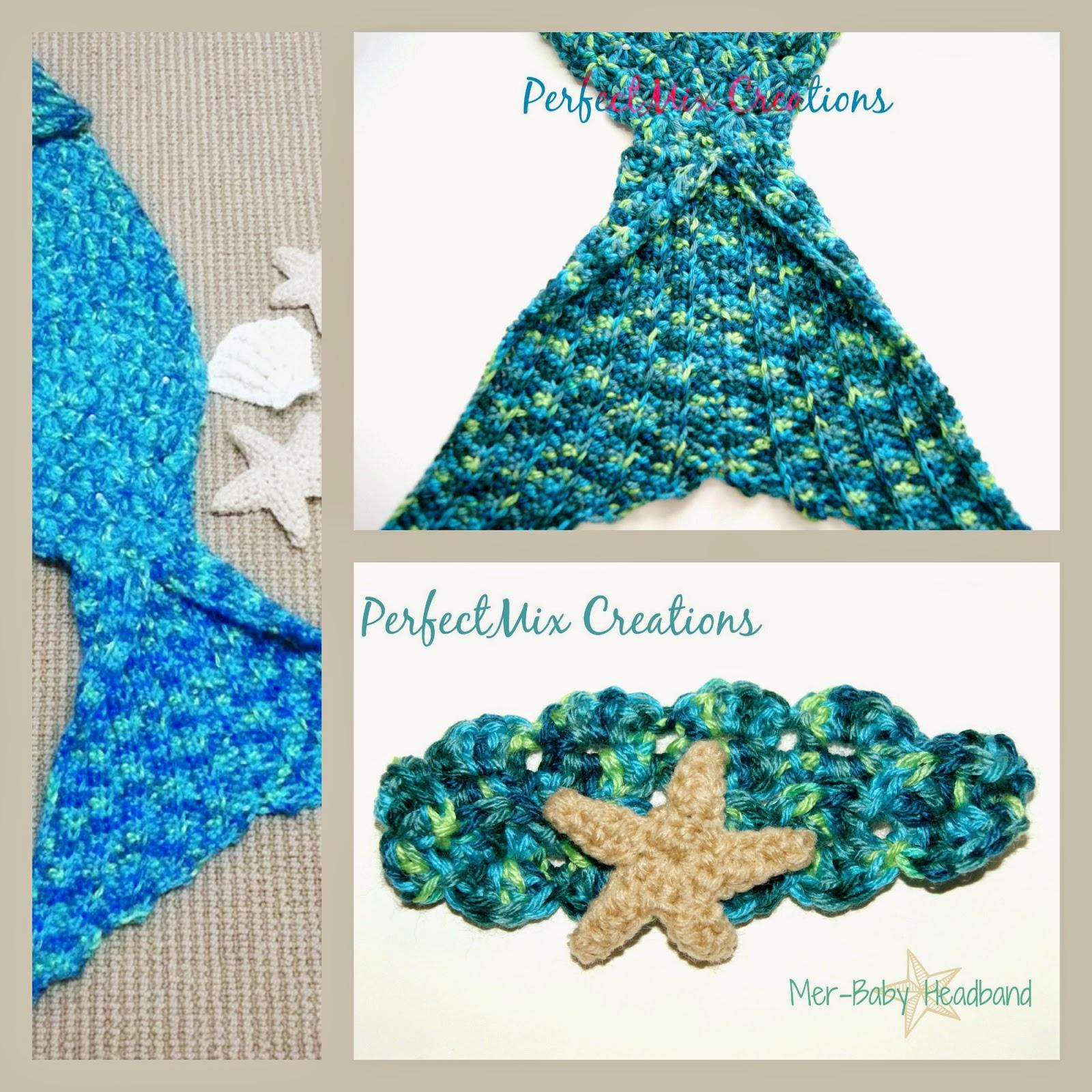 Free Crochet Pattern Mermaid Tail Fin : Mixin it up with DaPerfectMix: Mer-Baby Headband