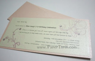 Cherry blossom birthday celebration invitation card
