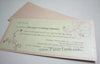 Cherry blossom birthday celebration invitation card