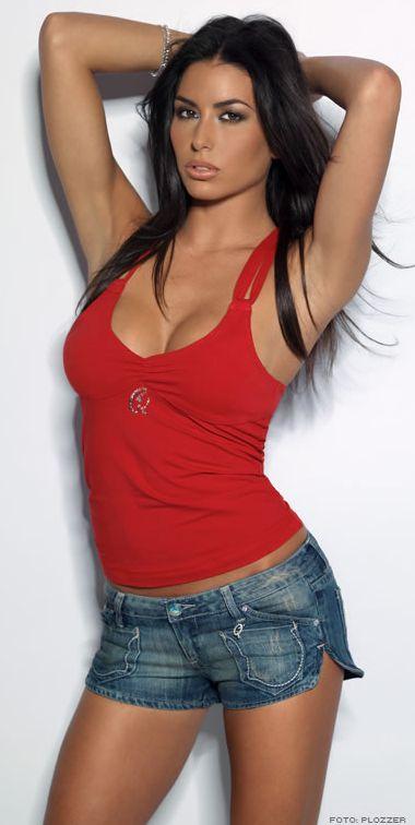 Federica Nargi Sexy in Short Jeans