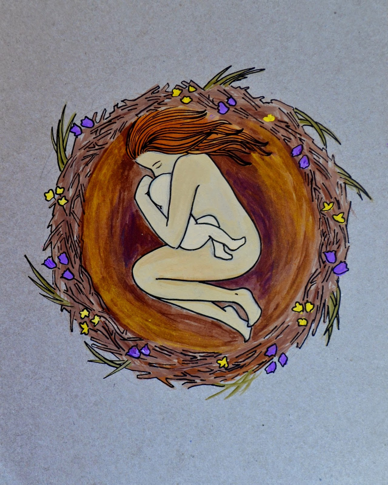 nest painting spiritysol birth art