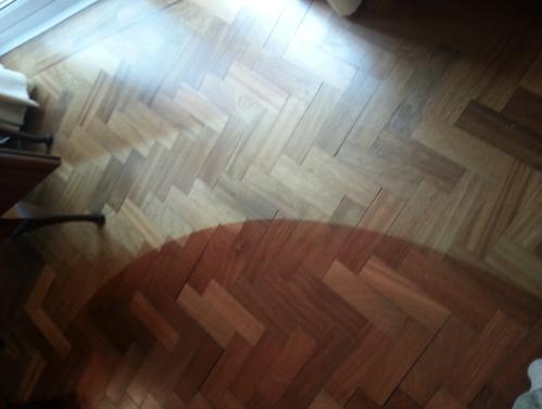 sun damage on wood floor