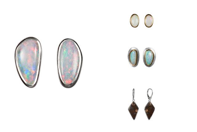 Ohrringe mit Opalen