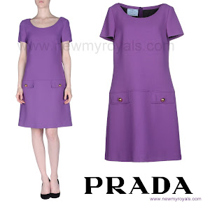 Crown Princess Victoria Style Prada Short Dress