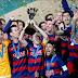 """برشلونة الاسباني يحتفل في """"استعراض الكؤوس الخمس"""""""