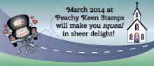 I design for Peachy Keen Stamps