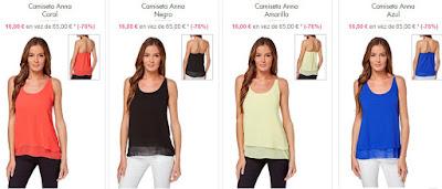 Camisetas Anna colores