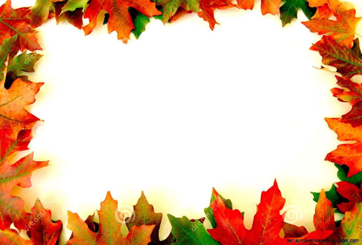 Autumn Leaves Border Clipart