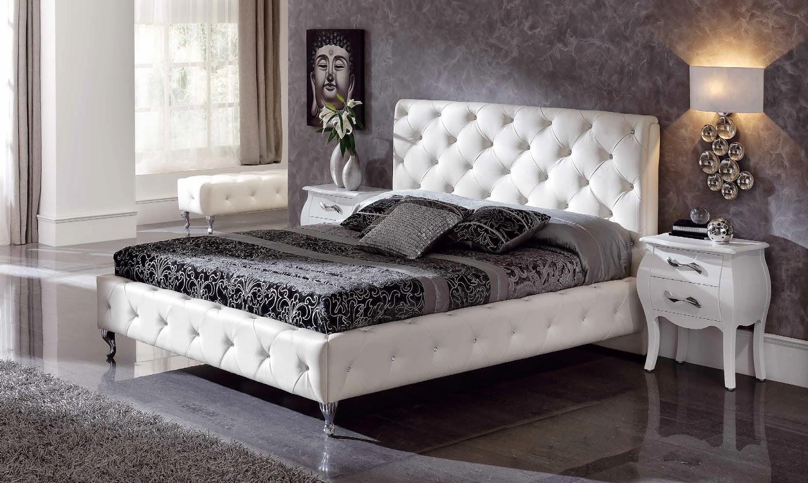 jugando con los textiles del cabecero tapizado y del resto del dormitorio puedes hacer una composicin creativa que aporte dinamismo y vitalidad