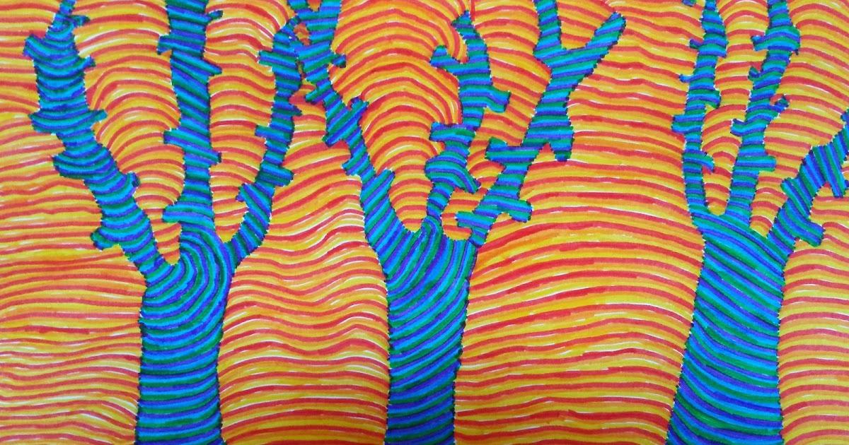 Dietro il dipinto colori caldi e freddi a righe for Disegni a colori caldi