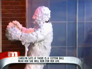 funny tv show fear of cotton ball