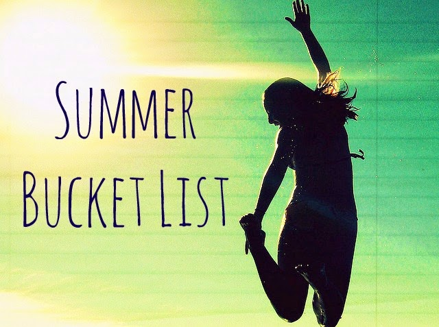 Summer bucket list. Girl jumping