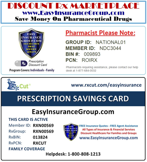 EasyInsuranceGroup.com - Discount Pharmaceutical Drugs - CLICK HERE - FREE Discount Rx Cards