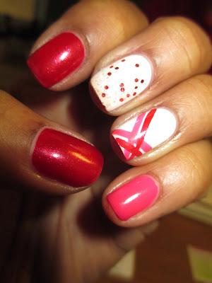 Julep, Scarlett, Lauren, O Canada, Valentine, inspired, nails, nail art, nail design, mani