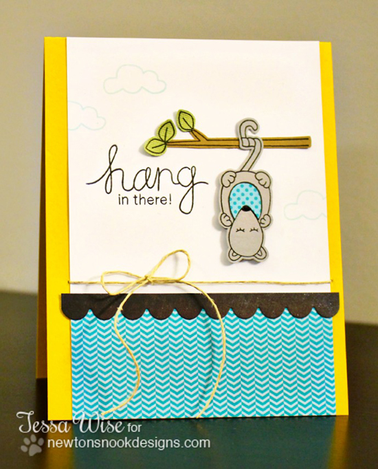 Possum card by Tessa Wise for Newton's Nook Designs | Hanging Around Stamp Set