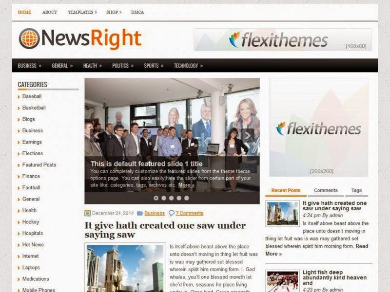 NewsRight - Free Wordpress Theme