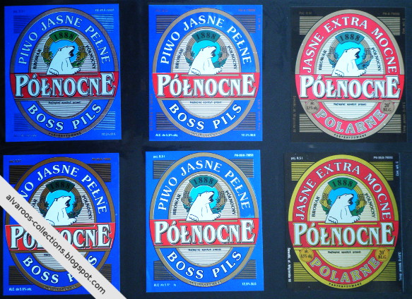 Beer labels collection: Północne: Boss Pils, Polarne