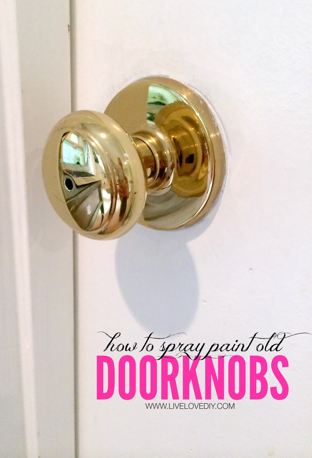 Ordinaire The Secret To Updating Old Brass Doorknobs! This Is SO Great!