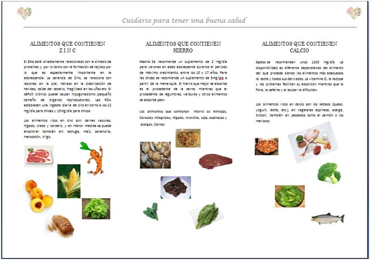 Cuidarse para tener una buena salud alimentos que contienen zinc hierro y calcio - Alimentos que tienen fibra ...