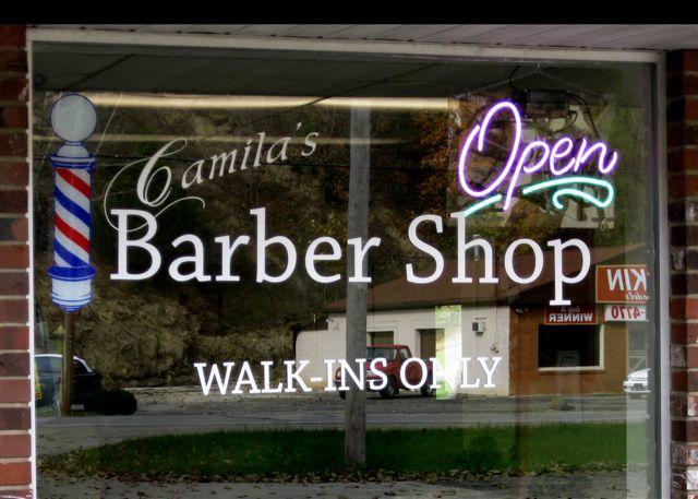 Old Barber Shop Window