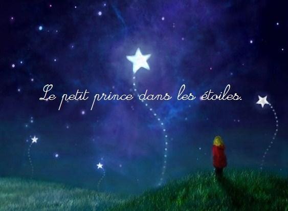 Le petit prince dans les étoiles.
