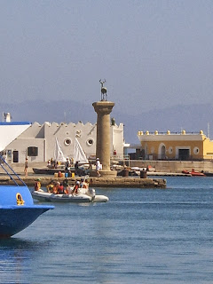 Entrance to Harbour, Rhodes Town