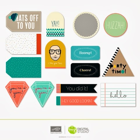 Stampin' Up! Occasional Tags Designer Template Digital Kit