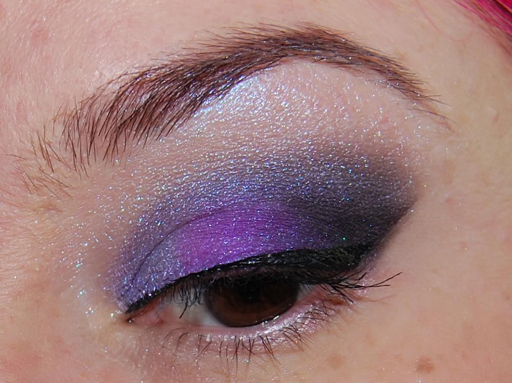 """Pixie (a light purple """"tint""""), Electric Kool Aid (a pure purple """"hue"""