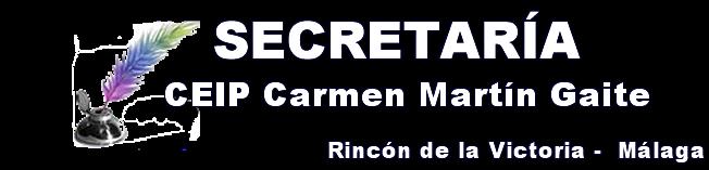 Secretaría CEIP Carmen Martín Gaite