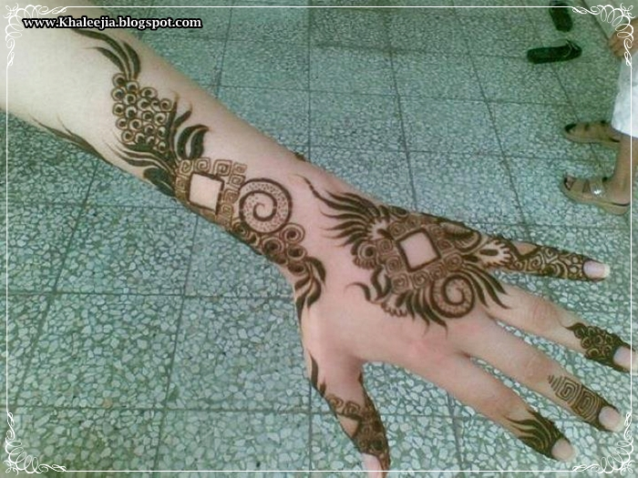 Khaleeji Henna Mehndi Design : Eid henna khaleeji designs inspirations