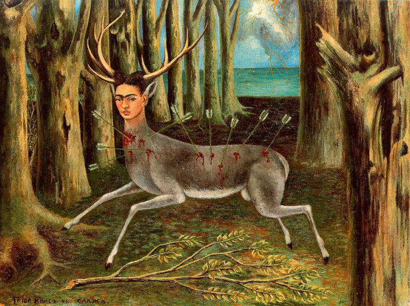 la galeria : -El venado herido- Frida Kahlo