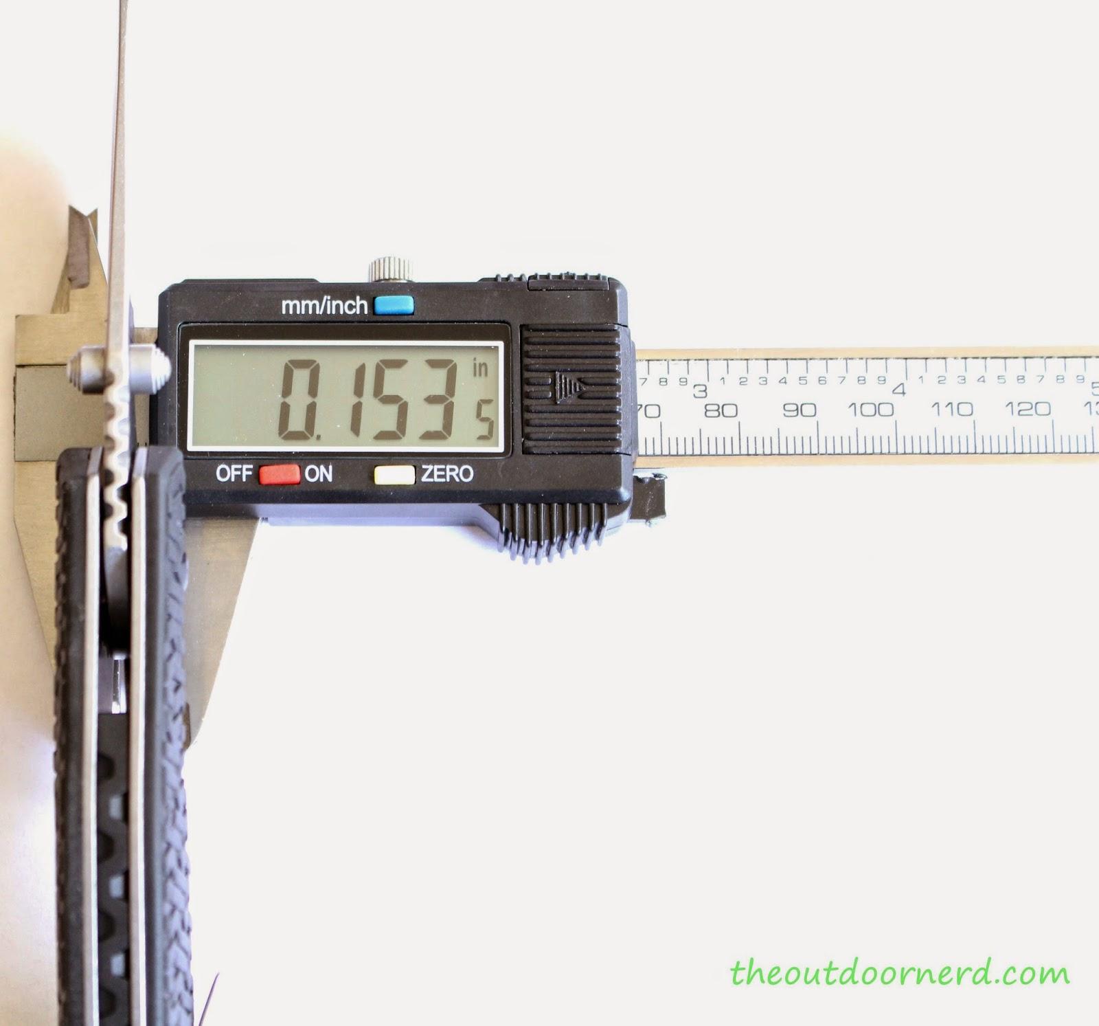 Kershaw Swerve EDC Pocket Knife: Caliper Measurement 1