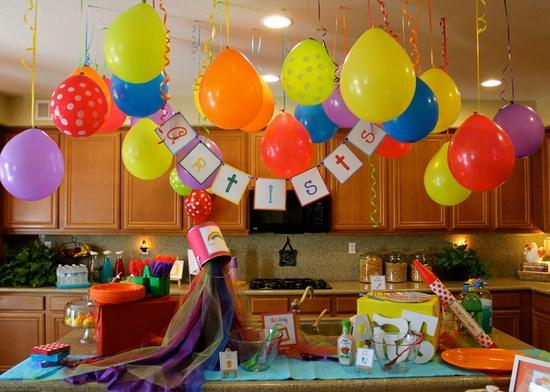 Decoraci n de fiestas tem ticas de arte art parties - Como decorar una fiesta de cumpleanos infantil ...