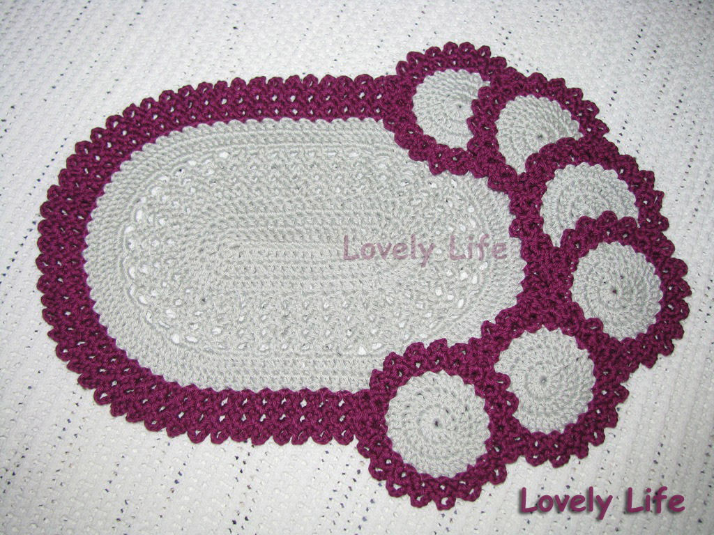 Lovely Life...: Oval Placemat and Coasters