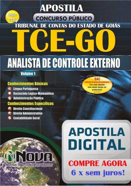 Apostila Concurso TCE-GO Analista de Controle Externo - 2014
