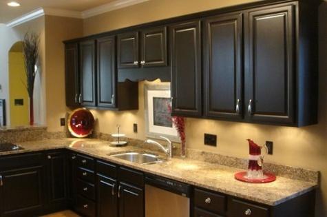 Gabinetes de cocina negros muy elegantes cocina y muebles for Gabinetes de cocina