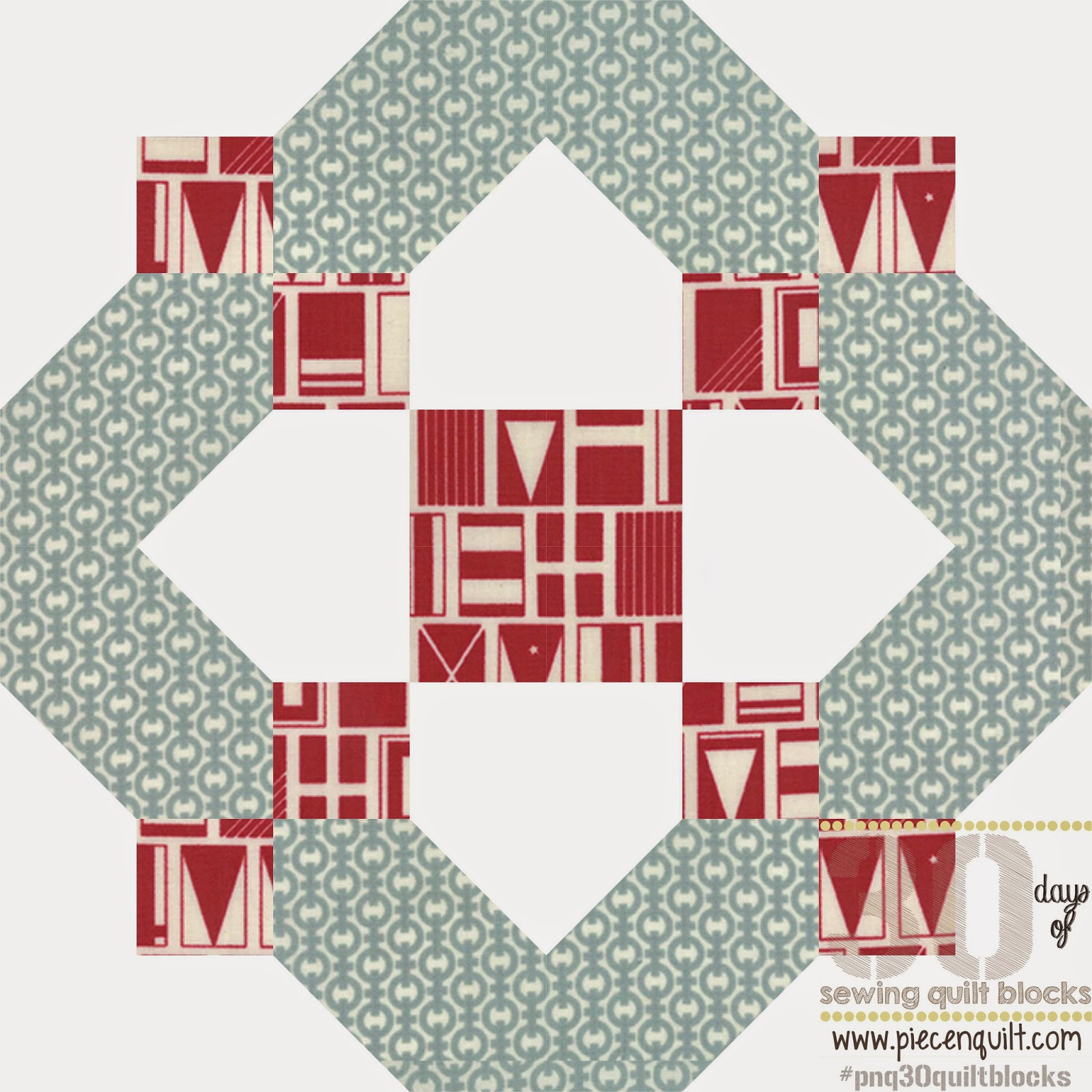 Piece N Quilt How To Thirteen Squares Quilt Block 30 Days Of