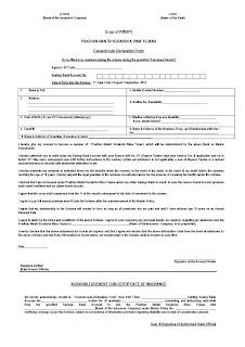 PMSBY Application Form