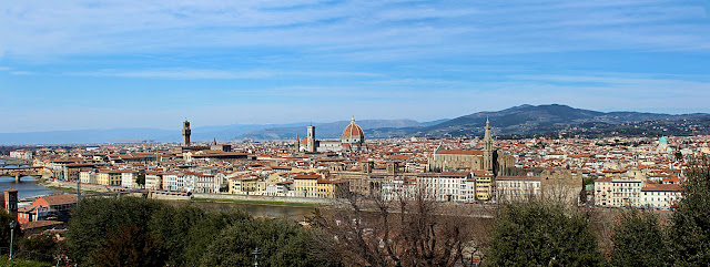 wide angle view of florence city in Italy