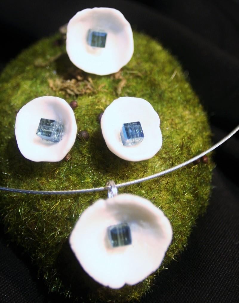 bijoux porcelaine cristal sur argent