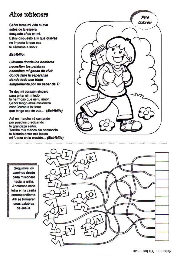 Vistoso Colorear Misionero Composición - Ideas Para Colorear ...