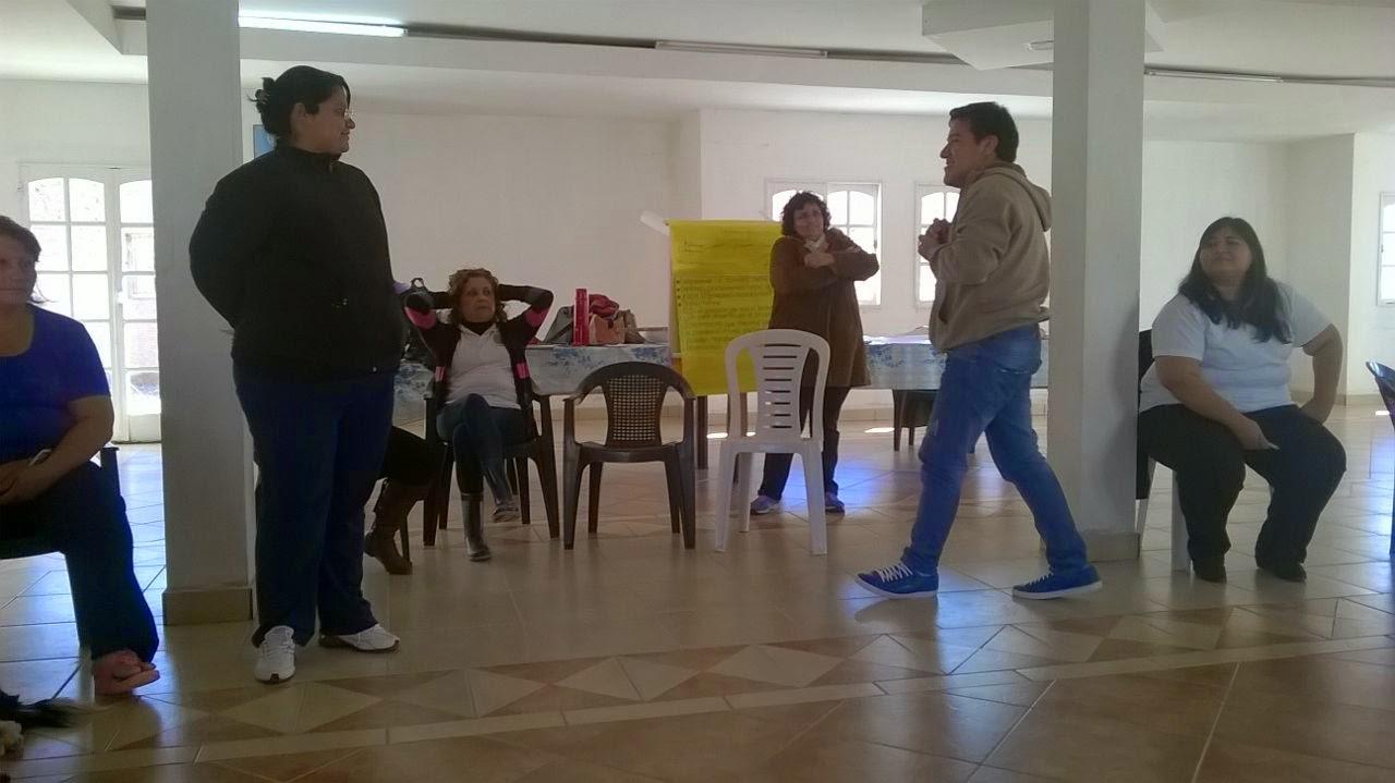 En el primer taller, la colaboración de todos