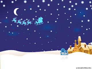 Free Download Christmas Night Idyll Wallpaper