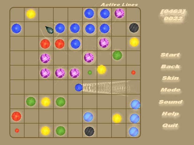 لعبة الكرات الملونة للكمبيوتر المتشابهة Active Lines