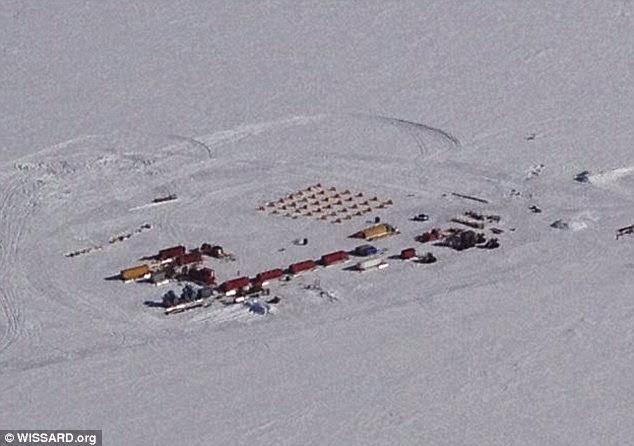 موقع الحفر أسفل الجرف الجليدي