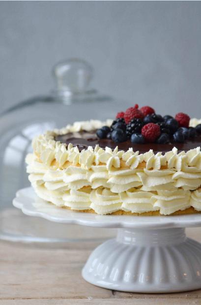 Ceramika Mynte Ib Laursen, Patera Ib Laursen Pure White, biała patera na ciasto
