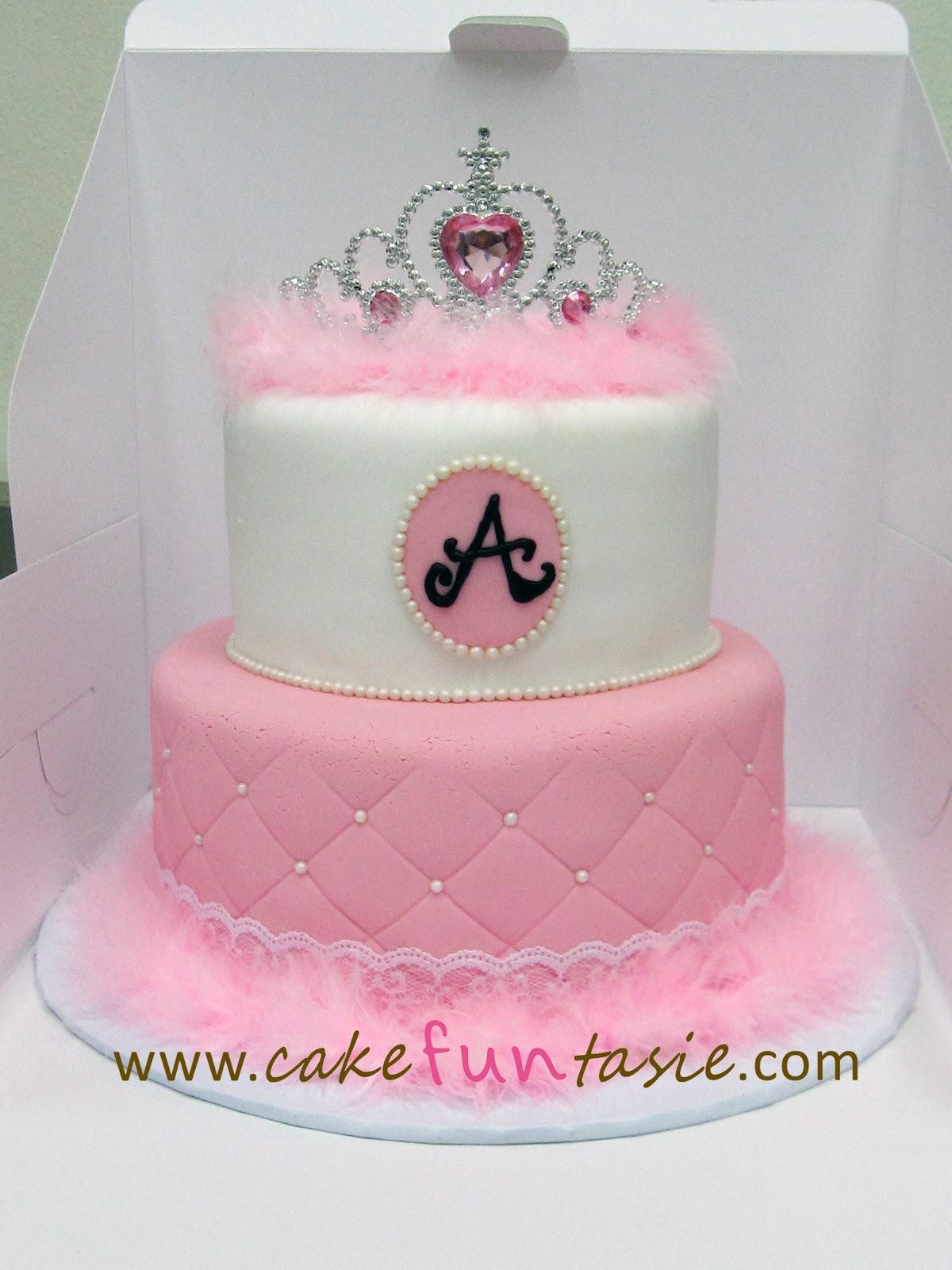 Princess Crown Cake Images : Cake Funtasie: Princess Tiara Fluff Cake