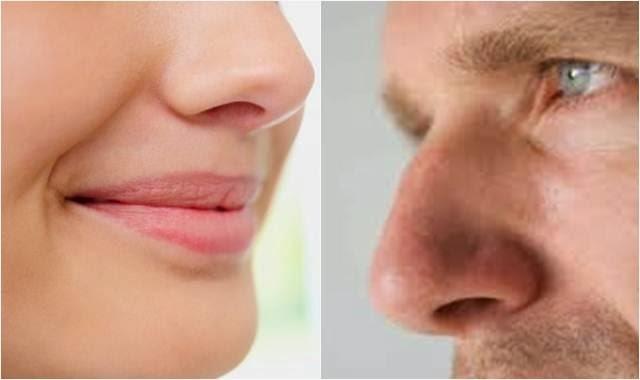hidung wanita dan pria