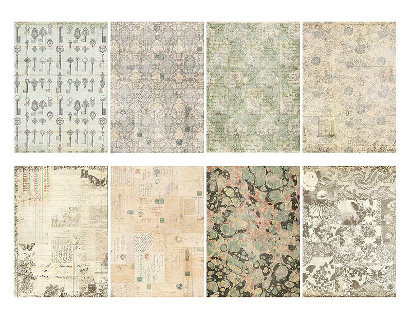 Jodie Lee Designs New Printable Scrapbook Papers French Market